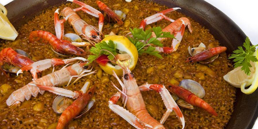 Receta de paella de marisco